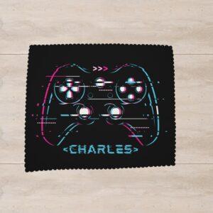Essuie lunettes avec un motif de manette de console de jeu