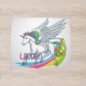 Licorne arc-en-ciel avec prénom