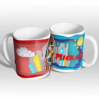 Mugs super héros paper craft version fille et garçon