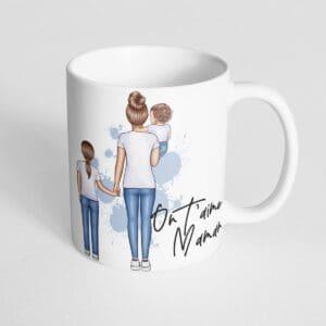 Mug maman avec enfants personnalisé : composez votre famille