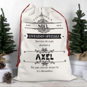 Hotte de Noël personnalisée avec prénom – Livraison spéciale